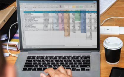 document excel sur ecran mac