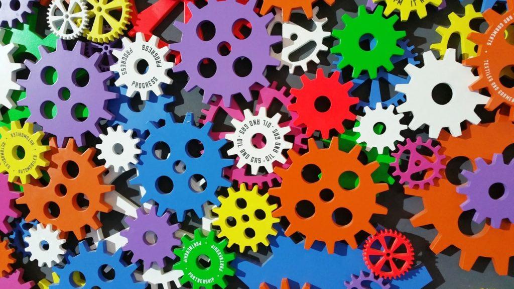 engrenage multicolor