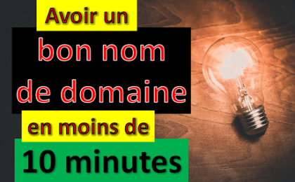 image bon nom de domaine en moins de 10 minutes